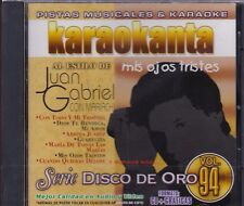 Juan Gabriel Con Mariachi Mis ojos Tristes CD New Karaoke