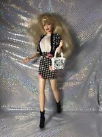 Beautiful Barbie Doll fully dressed red lips jointed elbows