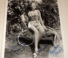 CONSTANCE MOORE /  8 X 10  B&W  AUTOGRAPHED  PIN-UP  PHOTO