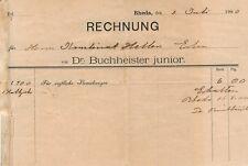 c144 alte Rechnungen Rheda, Dr. Buchheister 1900