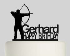 Archery Personalised Acrylic topper Birthday cake Topper.358