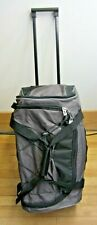 """Protege 22"""" Duffle Bag On Wheels With Telescoping Handle Black/Gray"""