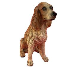 Irish Setter Dog Figurine Sitting Position Hunting Bird Dog Realistic