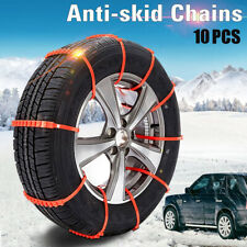 10 PCS Snow Tire Chain for Car Truck SUV Anti-Skid Emergency Winter Driving Best
