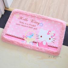 Cute Kitty Cat Cute Floor Mat Plush Rug Skidproof Door Mat Pink Bird Lace