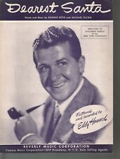 Dearest Santa 1947 Eddy Howard Sheet Music