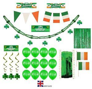 ST PATRICKS DAY HANGING DECORATIONS Irish Party Shamrock Foil Ceiling Decor UK