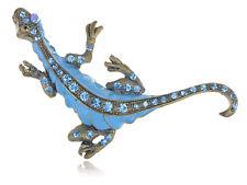 Sapphire Alloy Crystal Rhinestone Enamel Paint Dinosaur Critter Fashion Brooch