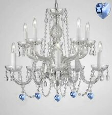 Empress Crystal (Tm) Chandelier Chandeliers Lighting with Blue Color Crystal!