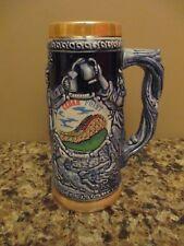 Vintage Large Cedar Point Gemini Roller Coaster Ceramic Stein / Mug