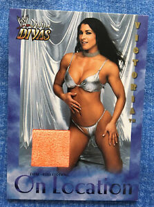 VICTORIA - On Location Event-Used Clothing - WWE Divine Divas 2003 Trading Card