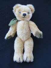 Vintage Harrods Merry Thought Teddy Bear mohair green ribbon stuffed animal