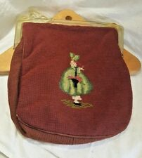 True Vintage Jacmore Co. New York Purse Bag Embroidered Clasp Strap Woven Clutch