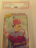 1980 Topps Mike Anderson PSA 9 Phillies Mint