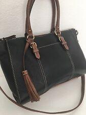 Tignanello Leather Bag Designer Fashion Shoulder Black Brown Chic Female