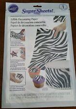 Wilton Sugar Sheets Edible Paper Zebra print for Decorating Baked goods