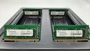 LOT 4 ADATA AO1P24HC8T1-BQXS 8GB DDR4 PC4-2400T-S 19200 NONECC SODIMM MEMORY RAM