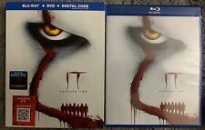 IT CHAPTER 2 BLU RAY DVD 3 DISC SET + SLIPCOVER SLEEVE FREE WORLD WIDE SHIPPING
