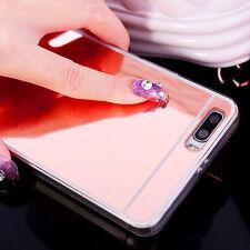 TPU Espejo Funda Gel Silicona carcasa Case Cover para Huawei P8 P9 P10 Lite plus