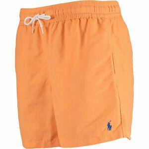 Ralph Lauren Swimwear Men's Orange Hawaiian Swim Shorts Boxer Trunks size XXL