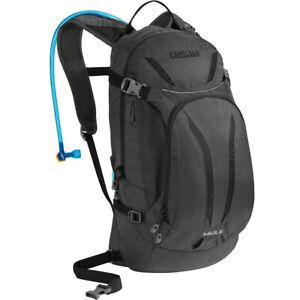 CamelBak MULE 100 oz/3L Cycling Hiking Hydration Backpack Charcoal Black M.U.L.E