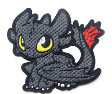 "How To Train Your Dragon Toothless Night Fury 3.75""Embroidered Iron/Sew On Patch"