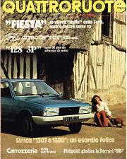 QUATTRORUOTE 08/1976 (CITROEN 2 CV 435, FORD FIESTA 1100 S, FERRARI BB)