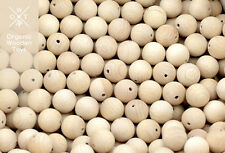 500 pcs. Wooden Beads 20mm. Natural Untreated Organic beech wood, made in Europe