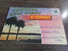 TROPICAL GULF COAST OF FLORIDA - POSTCARD FOLDER  18 PHOTOs VG