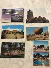 6 Unused Vintage Postcards Atascadero, Fresno, Salt Lake, Camelback, Imperial +
