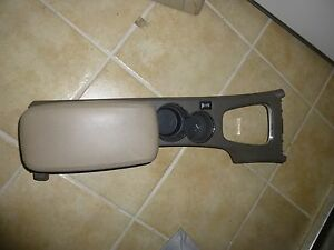LINCOLN LS 2000 2001 2002  CENTER CONSOLE ARMREST CUP HOLDER TAN