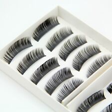 10 Pairs Brand New Natural False Eyelashes Fake Makeup Eye Lashes Lash with Glue