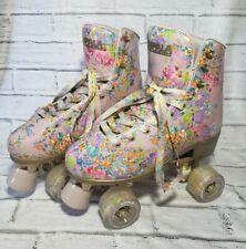 New Impala Quad Roller Skates Size 9 Cynthia Rowley Floral Sidewalk Flower Power