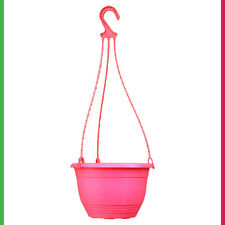 200mm Hanging Basket Pink - pk of 4 Plant Pot & hanger