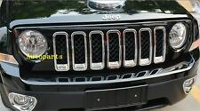 For JEEP PATRIOT 2011 2012  2013 CHROME GRILLE VENT HOLE FRAME TRIM INSERT