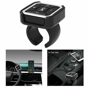 Car Steering Wheel Bike Mount Bluetooth 5.0 Remote Control MP3 Media Buttons