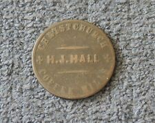 NEW ZEALAND CHRISTCHURCH TOKEN H J HALL COFFEE MILLS FAMILY GROCER #2