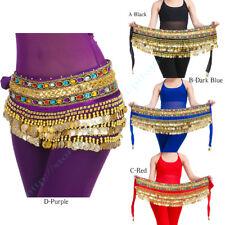 Belly Dance Ceinture de d'or Danse Orientale hip scarf danse du ventre Foulard
