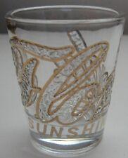 Florida Sunshine State Shot Glass Clear Gold Souvenir