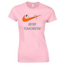 Sólo hazlo mañana extravagante citar parodia Lazy divertido Swag señoras Camiseta Camiseta Top aa74