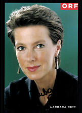 Barbara Rett ORF Autogrammkarte Original Signiert ## BC 25885