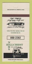 Matchbook Cover - Nims Hillcrest Restaurant Catering Waltham Ma 30 Strike