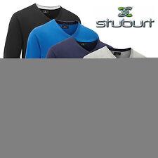 Cotton Blend Long Sleeve Regular Golf Shirts & Tops for Men