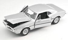 BLITZ VERSAND Pontiac Firebird 1967 silber silver Welly Modell Auto 1:24 NEU OVP