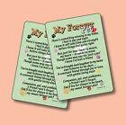 """""""My Forever Pet"""" - Inspirational Poem - 2 Verse Cards - sku# 551"""