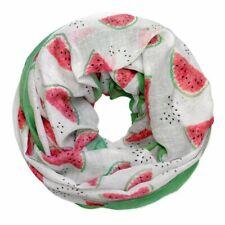 Loopschal mit leckerem Melonen-Motiv aus Viskose dünn leicht Tuch Damen Melone