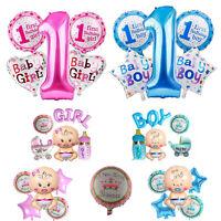 1st Compleanno Baby Shower Decorazione Feste Lamina Elio Palloncino Set Rosa Blu