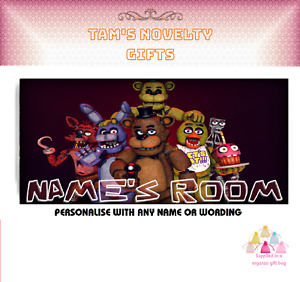 FIVE NIGHTS AT FREDDYS FNAF personalised door plaque 5 nights perfect gift