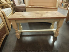 RECLAIMED PAINTED 3' LOW BENCH BESPOKE SIZES & COLOURS F&B OFF WHITE