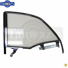 55-57 Chevy Bel Air CONV'T Rear Quarter Glass Window w/ Track Frame CLEAR LH